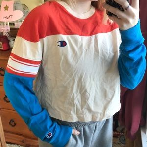 champion cropped long sleeve